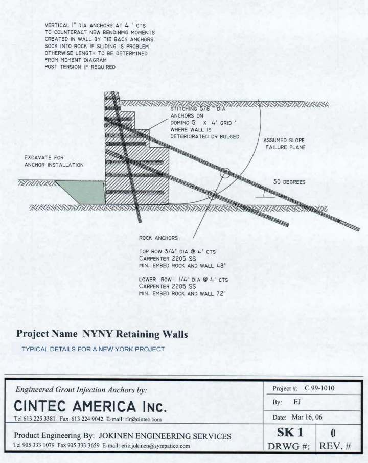 Cintec International Ltd Retaining Wall stabilisation